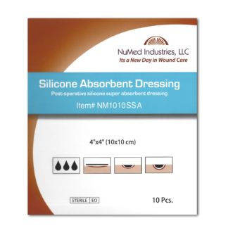 Silicone Absorbent Dressing 4x4